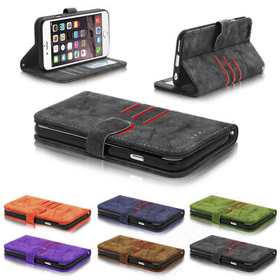 Luxury Magnetic Leather Wallet Card Case Flip Cover For Apple iPhone 6s 7 7 Plus