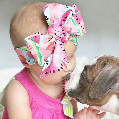 Toddler Baby Girls Floral Flower Big Bow Hair band Headband Hairband Accessories