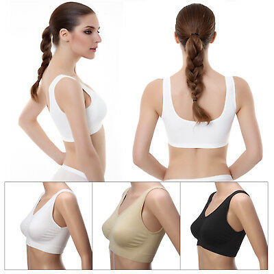3 Pcs In Pack Seamless Sports Style Bra Crop Top Vest Comfort Stretch Shapewear