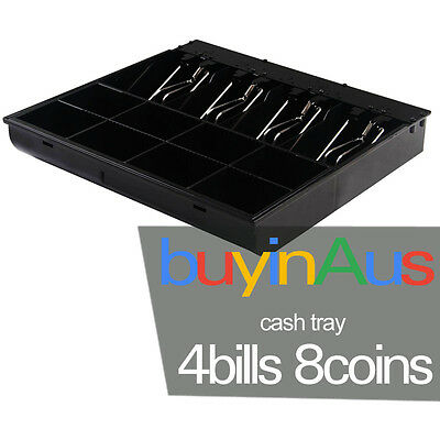 Brand New 4 Bills 8 Coins Spare Cash Tray Black