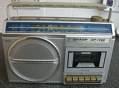 REFURBISHED 1980 SHARP GF-1740 Mains or Battery FM/MW/LW RADIO CASSETTE RECORDER