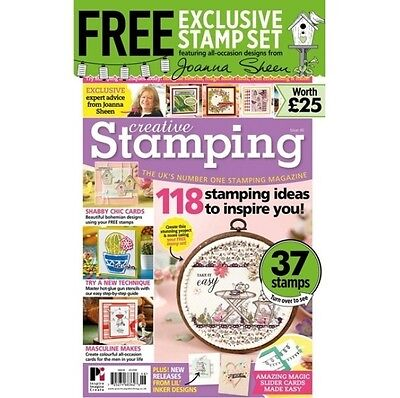 Creative Stamping Issue 46 + Free Joanna Sheen Garden  All Occasion Stamp Set