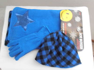 Joe Boxer 3 Pc Girls Gift Set  Scarf Gloves Hat Ready to Wrap Gift Box Attached
