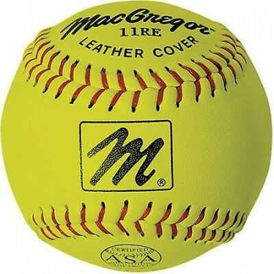MacGregor X44RE 28cm Slow-Pitch Softball, Yellow. Shipping is Free