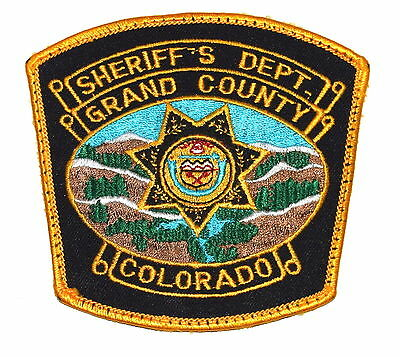 GRAND COUNTY COLORADO CO Police Sheriff Patch STATE SEAL EYE OF GOD MOUNTAINS ~