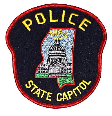 JACKSON MISSISSIPPI MS Police Sheriff Patch STATE CAPITAL CITY CAPITOL DOME ~