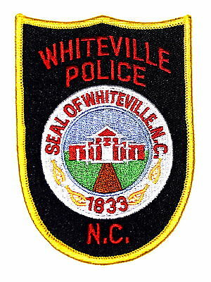 WHITEVILLE NORTH CAROLINA NC Police Sheriff Patch CITY SEAL COURTHOUSE ~