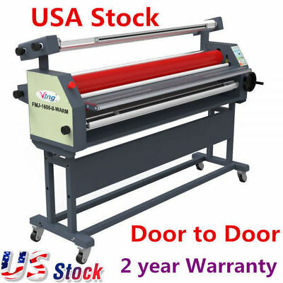 """US Stock! 63"""" Automatic Wide Format Roll Heat Assisted Cold Laminator Laminating"""