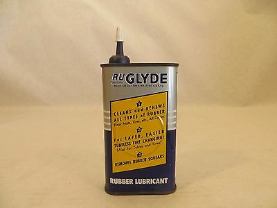 Vintage Ru Glyde Rubber Lube Handy Oiler Can Metal Gas Oil Great Condition