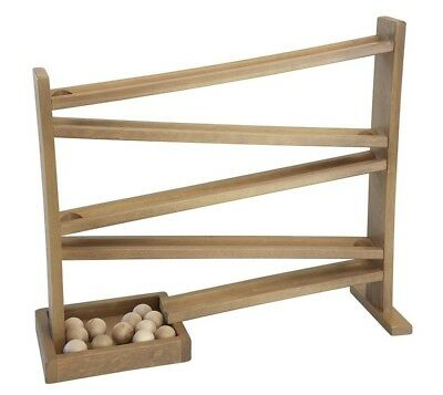 Amish Made Wooden Ball Roller Coaster Run. Lapps Toys. Free Delivery