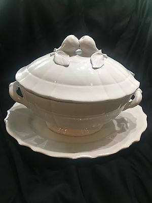 Beautiful Antique Large  Soup Tureen Signed