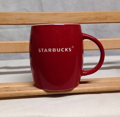STARBUCKS Collectible Coffee Mug 2011 - Red - Imprinted Name in White