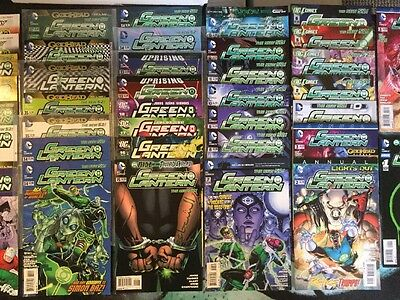 DC Comics Green lantern The New 52 Lot Of 38 Books 0-55 ( Not Complete)