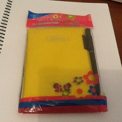 Soft Cover   Yellow  Address Book With Pen Brand New In Packet