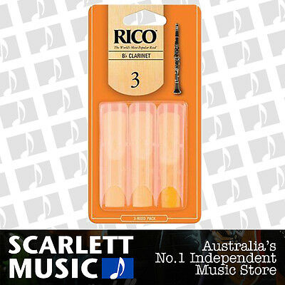 Rico Bb Clarinet Reeds 3 Pack Reed Size 3 / Three RCA0330 3PK