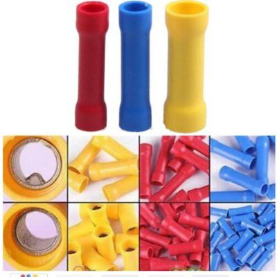 100 pcs Heat Shrink Terminals Waterproof  Electrical Insulated Butt Connectors T