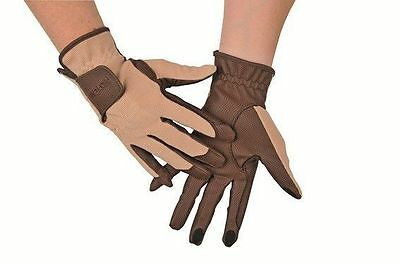 HKM Horse Riding Gloves with Touchscreen Function Fingers - Use Your Phone