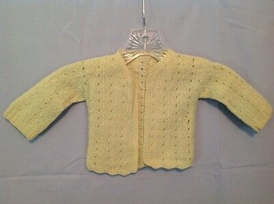 Vintage 40-50's Infant / Doll Mint Green Wool Sweater