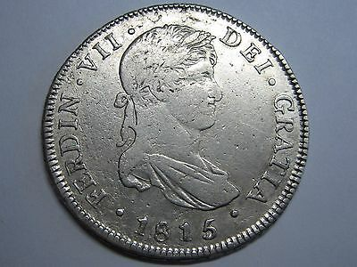 1815 /4 Guatemala 4 Real Ferdinand Vii Spanish Colonial Spain Silver .