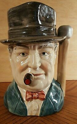 VINTAGE Mans Head Toby Jug Cigar Ceramic  Excellent