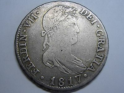 1817 /6 Madrid 4 Real Ferdinand Vii Spain Spanish Silver Coin