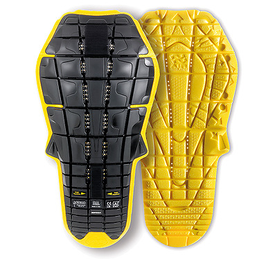Spidi Protezione Schiena Back Protection Evo Inside Nero Giallo Black Yellow