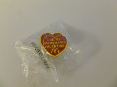 Brand New McDonald's Be My McDonald's Valentine Lapel Pin NOS