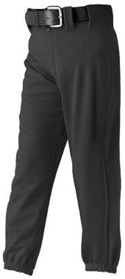 Alleson 605PY Youth Custom Baseball Pants BK - BLACK YL. Shipping Included
