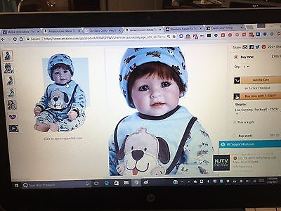 """Adora Lifelike Doll Toddler WOOF! 20"""" Weighted"""