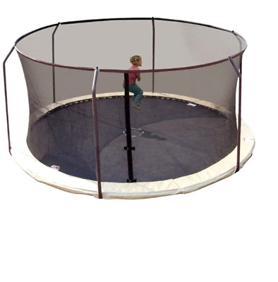 Trampoline Replacement Net Fits 15Ft Round Frames Using 6 Curved Poles Top Ring