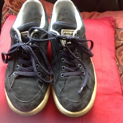 Men's navy blue suede Gola trainers, size 8