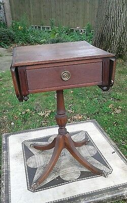 Ferguson brothers vintage small side table drop leaf