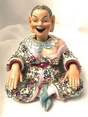 Rare Antique German Hand-Painted Porcelain Nodding Figure – Chinese Pagoda