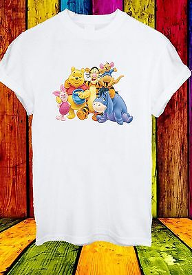 Winnie The Pooh Piglet Eeyore Kanga Tigger Cartoon Men Women Unisex T-shirt 710