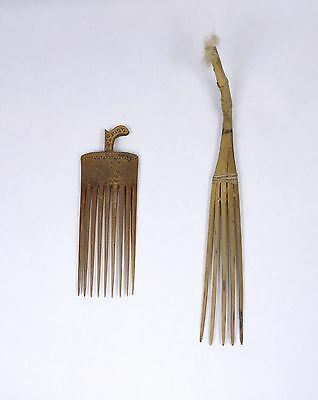 Two Old combs from New Guinea and Irian Jaya