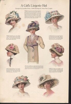 1911 Lingerie Hat Woman Fashion Perry Cooper Style  Ad 15631