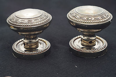 SOLID BRASS doorknob, interior luxury door knob, antique chrome finish