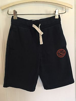 Lands End Kids Size SMALL Boys Pull On Sweat Shorts DRAWSTRING NAVY BLUE CC275