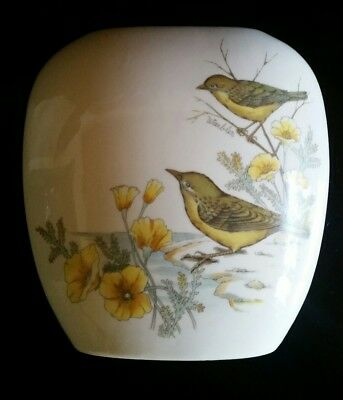 Andrea By Sadek Porcelain Vase With Warblers And Flower Design Made In Japan