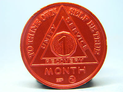 Alcoholics Anonymous Sobriety Chip 1 Month Anniversary -Token - Medallion