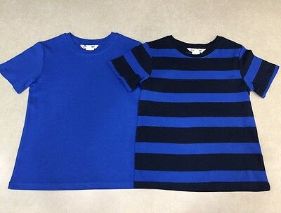 Lot of 2~~BASIC H&M Boy's Multi-Color Round-Neck Tee Shirts~~Size 2-4yrs