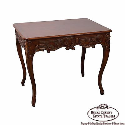 French Louis XV Style Carved Side Table by Banks Coldstone Co.