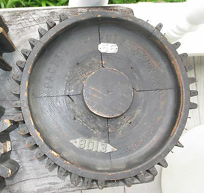 """Wood Foundry Pattern  9 1/2"""" Gear Cog Steampunk Industrial Pacific Fruit Express"""