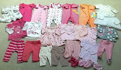 large baby girl bundle sleepsuits outfits 0-3 months