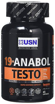 USN 19-Anabol Testo Testosterone Inducer Capsules - Tub of 45