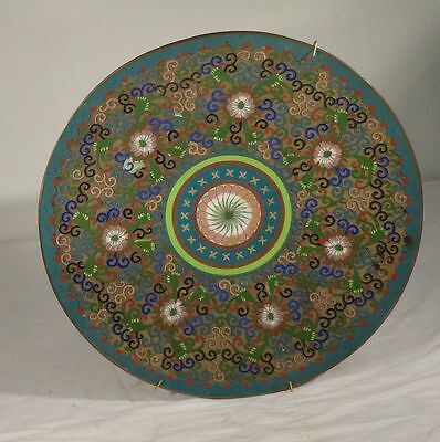 Antique Chinese Japanese Cloisonne Champleve Charger 20th Century Republic