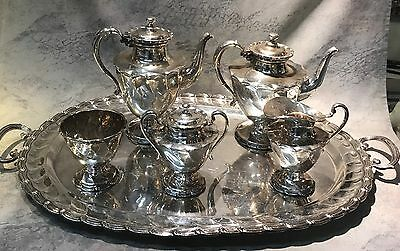 Jose Marmolejos Mexican Taxco Sterling Silver 6pc Tea & Coffee Service 240ozt