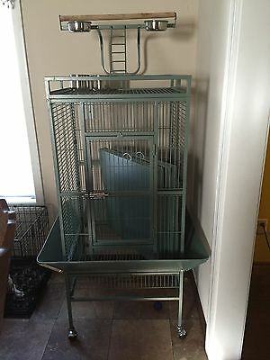 """64"""" Large Bird Cage Large Play Top Parrot Finch Cage Macaw Cockatoo African Grey"""