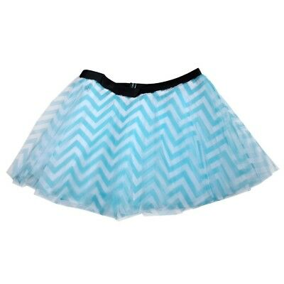 (Teal) - Runner's Printed Tutu Chevron. Shipping Included