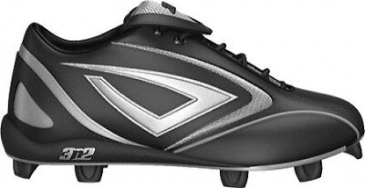 (7.5 D(M) US, Black/Silver) - 3N2 Hammer Low Baseball Cleat Mens. Shipping is Fr